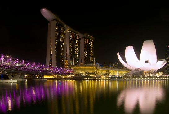 The ArtScience Museum, Marina Bay Sands, Singapore.